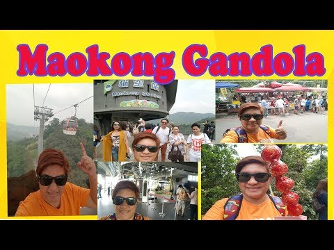 Riding the Maokong Gandola taipei cable car