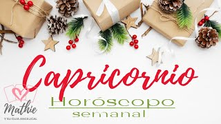 CAPRICORNIO del 30 de noviembre al 6 de diciembre HOROSCOPO SEMANAL Tarot Guia Angelical