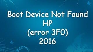 boot device not found (error 3F0) 2016