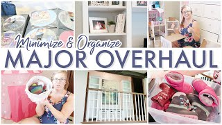 Living Room + Hallway + Books + Quiet Zone Overhaul 😲 || Minimize & Organize With Me
