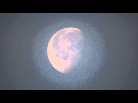 la luna di buon mattino