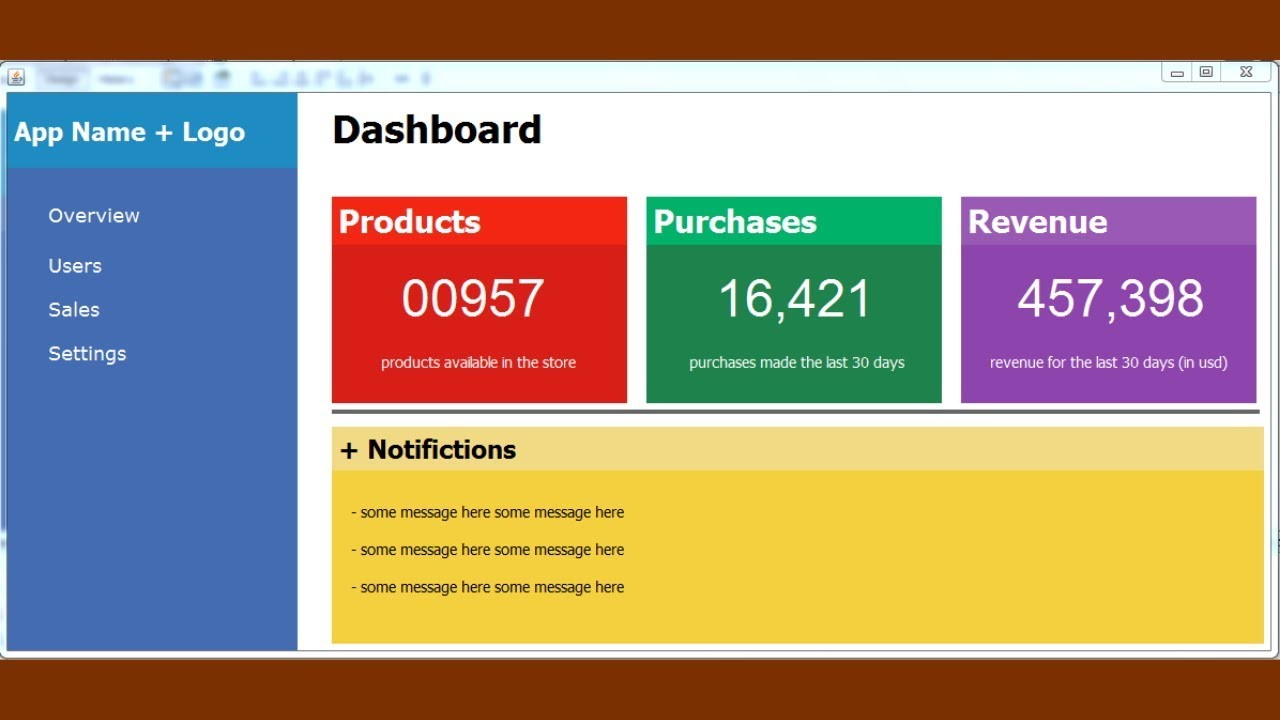 JAVA - How To Design Dashboard Form In Java Netbeans