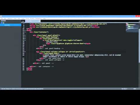 bootstrap3 js collapse individual panel 720p - YouTube