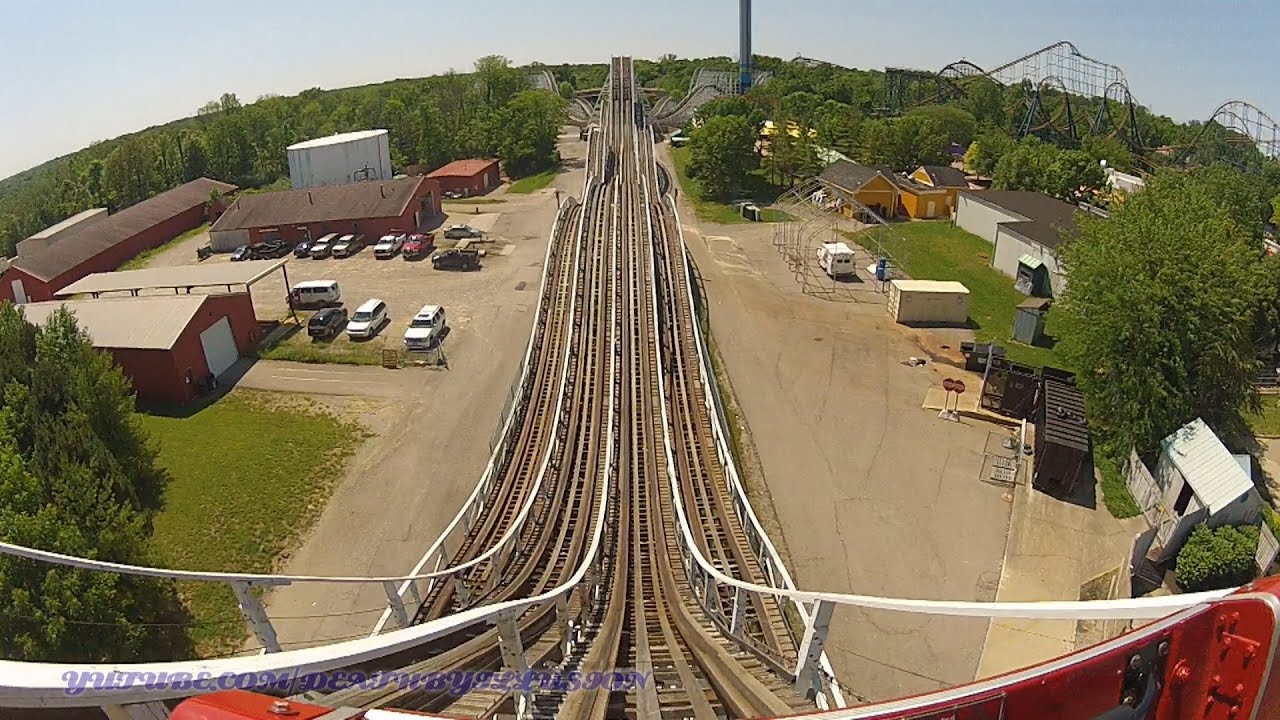 The Racer Red On Ride Front Seat Hd Pov Kings Island