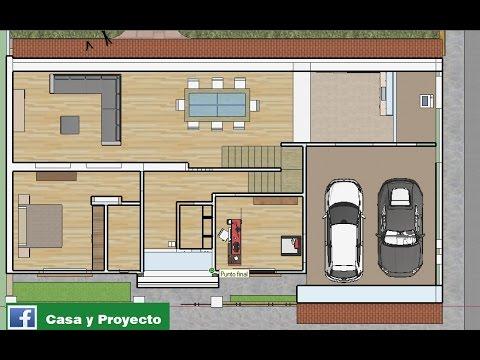 Plano de casa de 10x20 mts youtube for Disenos de casas 10x20