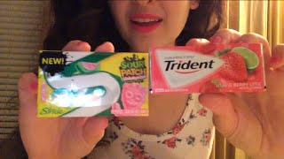 ASMR Gum Chewing Stride Sour Patch watermelon