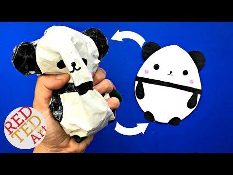 Panda Paper Squishy DIY - DIY Panda Egg Squishy - How to make a Paper Squishy