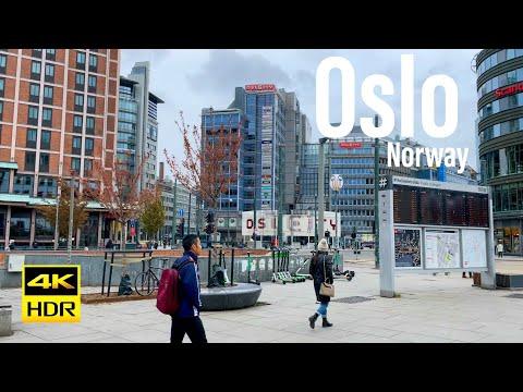 Oslo Norway, 4K 60FPS-HDR Walking Tour - 2021 - Tourister Tours