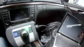 Түзету дизельді форсункаларды бос жүрісте Mercedes E220 w211
