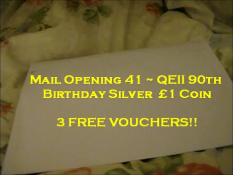 Mail Opening 41 ~ Queen Elizabeth II 90th Birthday Silver  £1 Coin