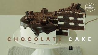 빌리엔젤 쇼콜라 봉봉 따라 만들기, 초코 가나슈 생크림 케이크 : Chocolate Ganache Cake Recipe : チョコケーキ -Cookingtree쿠킹트리