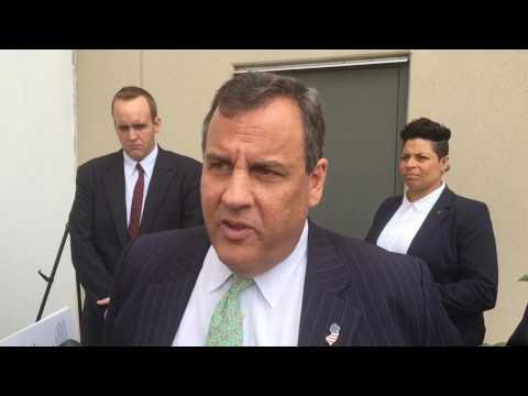Gov. Christie talks about Amtrak