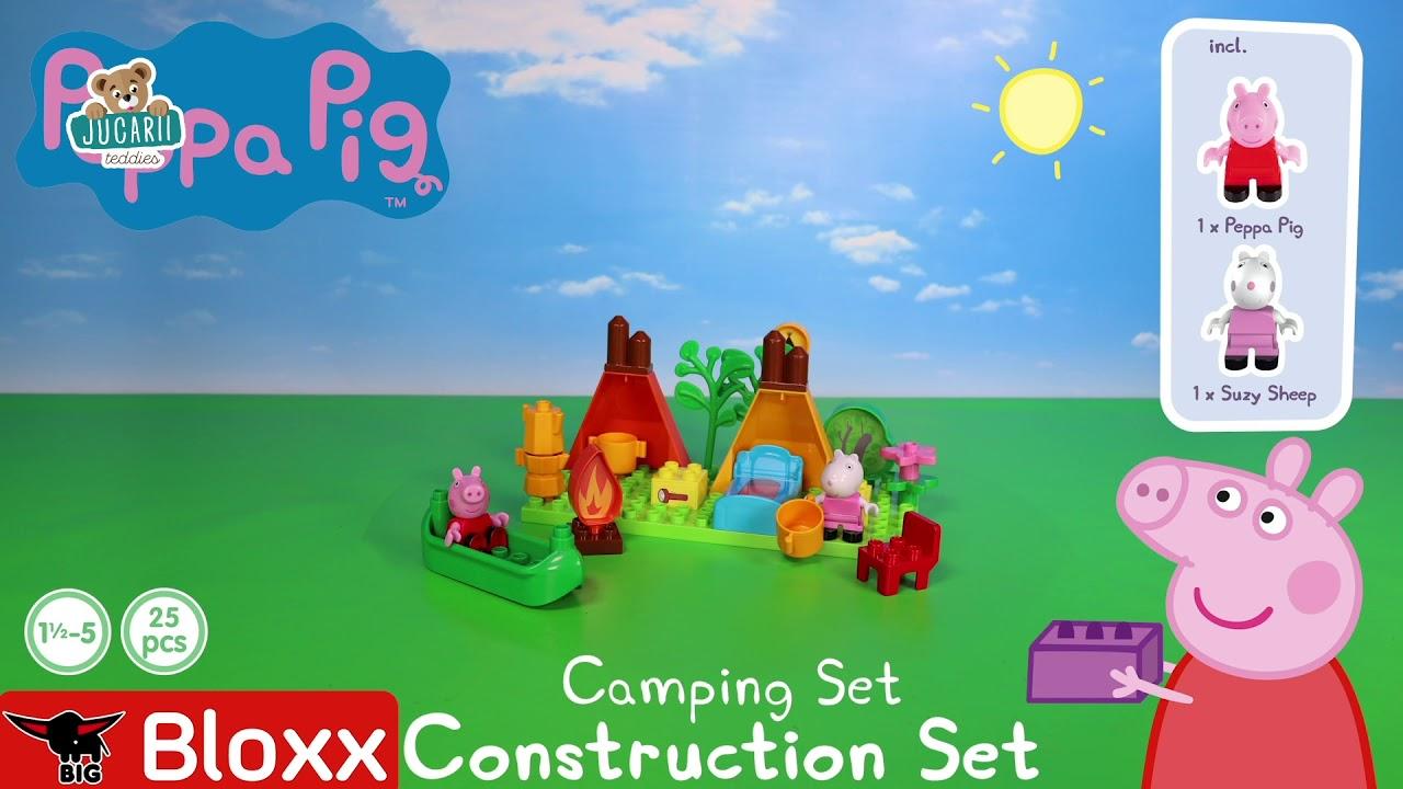 Joc de construit Peppa Pig Camping set PlayBIG Bloxx BIG