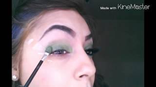 Sombra verde y negro