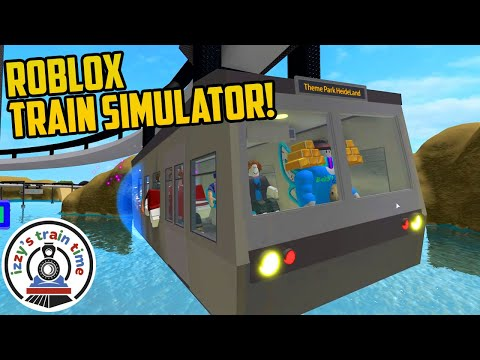 Playing with Trains on ROBLOX TRAIN SIMULATOR!!  