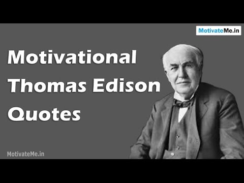60 Motivational Thomas Edison Quotes YouTube Awesome Thomas Edison Quotes