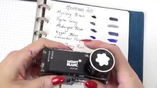 Montblanc inks overview