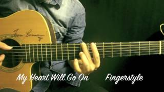 Download Lagu My Heart Will Go On Ost.Titanic Fingerstyle Guitar Cover by Toeyguitaree (TAB) mp3