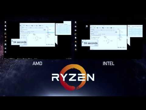 AMD Ryzen ™ Handbrake Demo