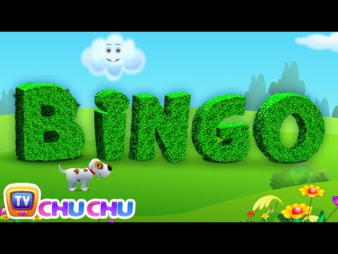 BINGO Dog Song - Nursery Rhyme With Lyrics - Cartoon Animation Rhymes & Songs for Children
