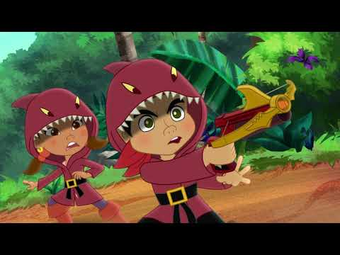 Джейк и Пираты Нетландии - Тигровый Шарки снова в бою/ Волшебная команда - серия 19 сезон 4 Disney