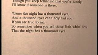 "Bobby Vee KARAOKE - ""The Night Has A Thousand Eyes"" - ORIGINAL backing track"