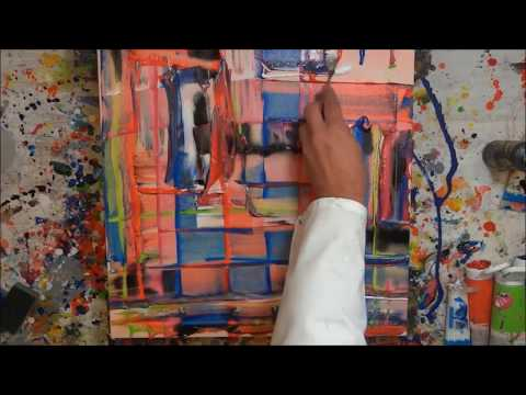 Tutorial Abstrakte Kunst (4) - Wir malen ein Bild - Acryl Spachtel-Technik - Painting Demo