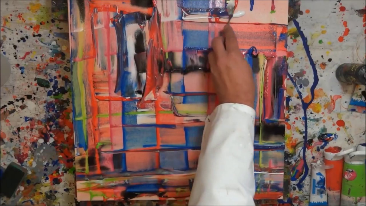 Abstract Acrylic Painting Demo Abstrakte Malerei