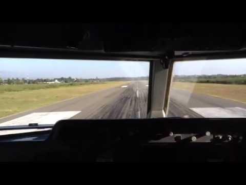 Transnusa F 50 landing at Waingapu