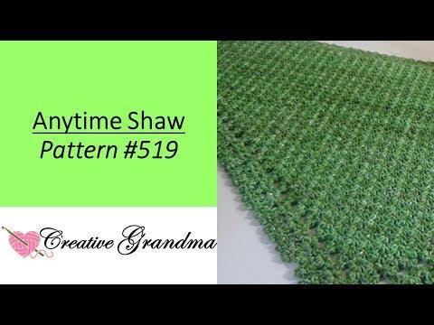 Holiday / Anytime Shawl  Pattern #519  Stitch Studio by Nicole Studio Soiree