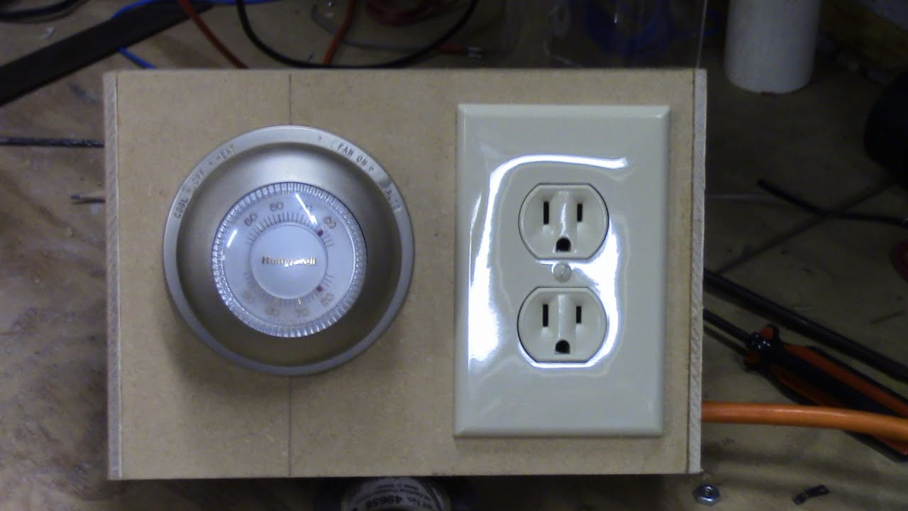 thermostat controlled outlet youtube rh youtube com House Thermostat Wiring Diagrams Nest Thermostat Wiring