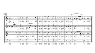 Palestrina O bone Jesu Partitura Interpretación Música del Renacimiento.