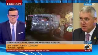 Ministrul Apărării Adrian Țuțuianu a anunțat la Antena 3 că din păcate trei militari și-au p