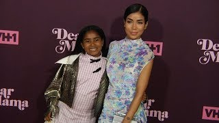 Jhene Aiko and her daughter Namiko Aiko at VH1 3rd Annual Dear Mama : A Love Letter To Moms Red carp