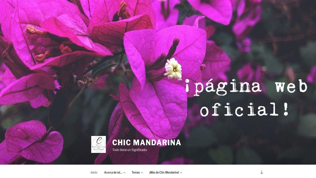¡CHIC MANDARINA PAGINA WEB Y BLOG OFICIAL! #paginaweb