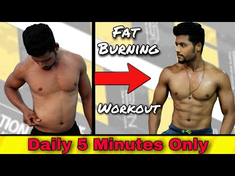 5 Minutes Fat Burning Workout | Weight Loss Home Workout | HIIT Workout | Fitness Byte
