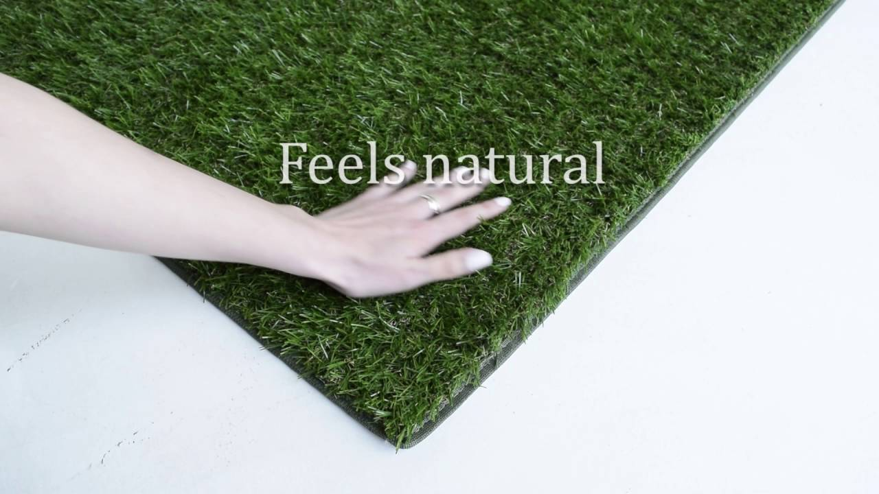 Outdoor Artificial Grass Shag Area Rug Youtube