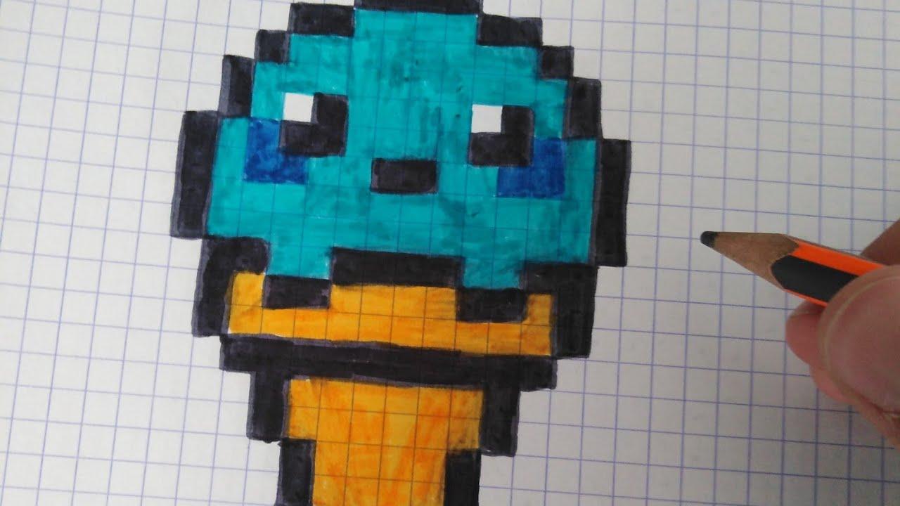 Tuto Comment Dessiner Une Glace Kawaii En Pixel Art Youtube