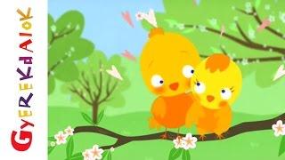Tavaszi szél vizet áraszt (Gyerekdalok és mondókák, rajzfilm gyerekeknek)