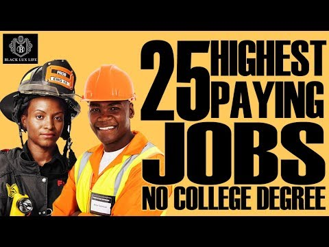 Black Excellist: Top 25 Jobs without 4 Year College Degree #blackexcellence #blackexcellist #jobs