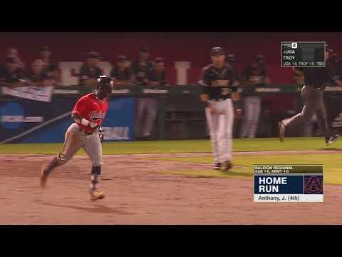 Auburn Baseball vs Army NCAA Regional Highlights