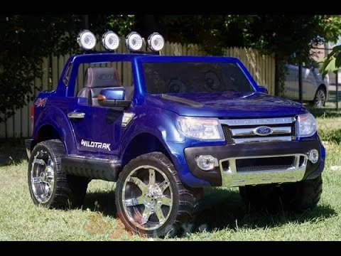 ford ranger kinderauto blauw youtube. Black Bedroom Furniture Sets. Home Design Ideas