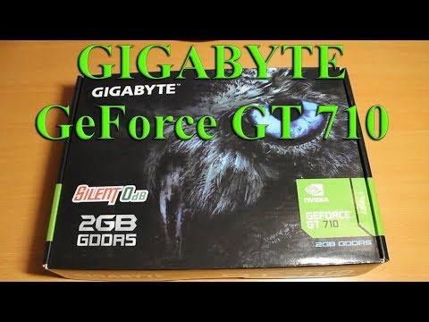 Обзор/ распаковка Видеокарты GIGABYTE GeForce GT 710 SL