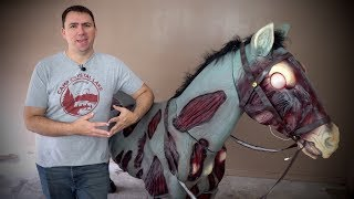 """72"""" Zombie Horse from Home Depot - Can we get it put together?!  Assembly & Review"""
