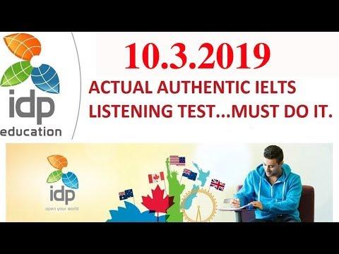 NEW IDP IELTS Listening Pratice Test EXAM 2019   10/ 03/ 2019