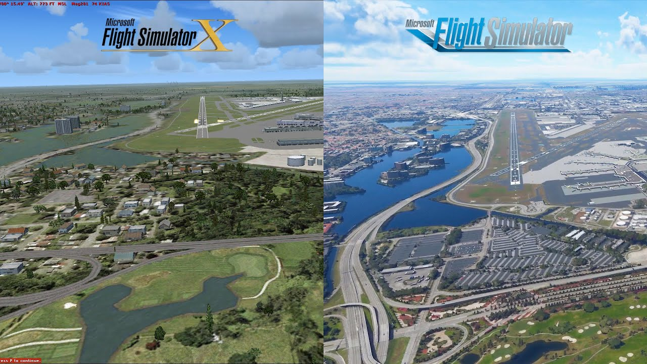 Airport Scenery FSX vs. FS2020 | Microsoft Flight Simulator 2020