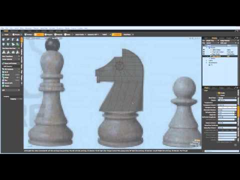 Luxology Modo - Chess Set - Knight