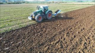 Fendt 939 Ploughing on land with Lemken 7 furrow, Old Court Engineering