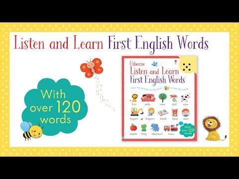Listen and Learn: First English Words - from Usborne Publishing
