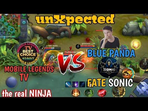 unXpected Mobile Legends TV vs BLUE PANDA + FATE SONIC | the real NINJA | mobile legends bang bang